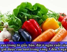 Để thực phẩm tươi ngon khi bảo quản bằng tủ lạnh