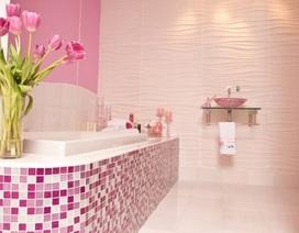 Phòng tắm hồng xinh cho những cô nàng điệu đà
