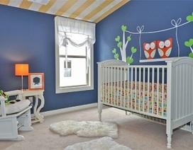 Phòng cho bé đẹp hút hồn với gam màu xanh