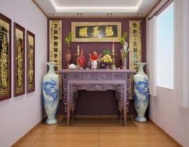 Những nguyên tắc căn bản trong không gian thờ cúng của người Việt