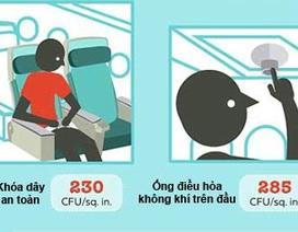 Nhiều chỗ trên máy bay bẩn hơn bệ toilet