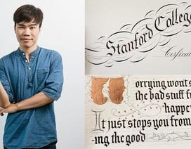 9X Việt viết thư pháp được báo nước ngoài ca ngợi
