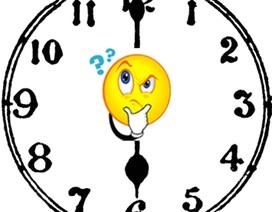 Đáp án bài toán, có bao nhiêu lần kim phút và kim giờ tạo với nhau một góc 180 độ?