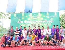 Hàng trăm cư dân tham dự Giải quần vợt đồng đội Vinhomes Cup 2015