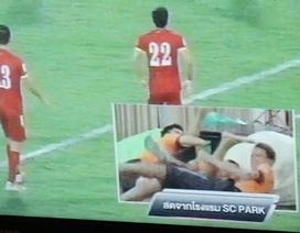 Cầu thủ Thái Lan vui sướng sau trận hòa giữa Việt Nam và Iraq