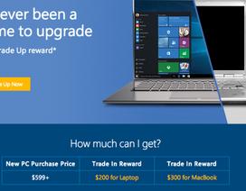 Microsoft trả 300 USD cho máy tính MacBook cũ