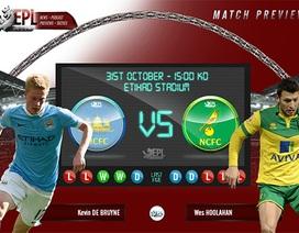 Man City - Norwich: Vị thế chênh lệch
