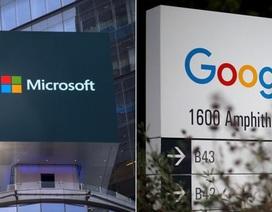 """Microsoft, Google ngừng tất cả các """"cuộc chiến"""" pháp lý"""