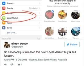 "CEO Mark Zuckerberg bí mật mở ""chợ"" trên Facebook"