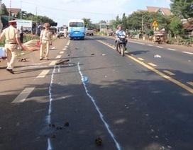 Công an viên bị xe máy tông chết khi bảo vệ hiện trường tai nạn