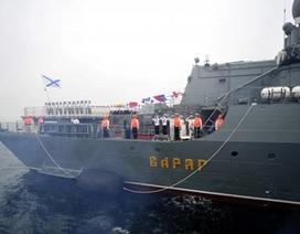 Tàu chiến Hạm đội TBD của Nga đến Ấn Độ tham gia tập trận