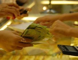 Giá vàng tăng trở lại, USD sụt giảm
