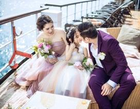 Minh Tiệp hạnh phúc bên vợ đẹp con xinh
