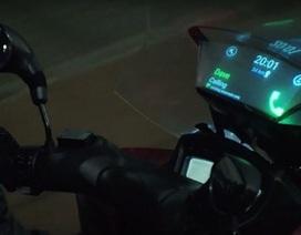 Samsung giới thiệu ý tưởng bắn thông tin lên kính chắn gió xe máy