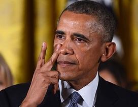 Tổng thống Obama rơi lệ khi công bố kế hoạch kiểm soát súng đạn
