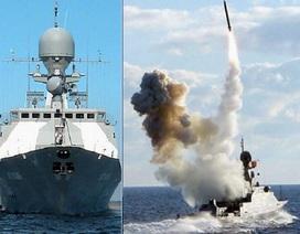 """Chiến hạm """"hạt tiêu"""" Nga mang tên lửa Kalibr đến trợ chiến ở Syria"""