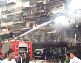 Hà Nội: Cháy tại khu tập thể Ban cơ yếu Chính phủ