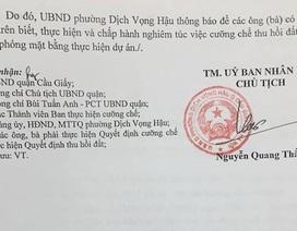 """UBND Quận Cầu Giấy """"chốt"""" lịch cưỡng chế thu hồi đất thực hiện dự án hạ ngầm đường điện 110KV"""