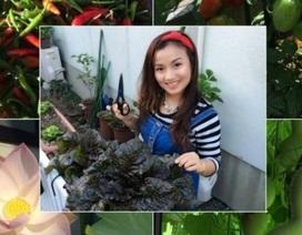 """Khu vườn 5m2 """"gì cũng có"""" của nàng dâu Việt xinh đẹp xa xứ"""