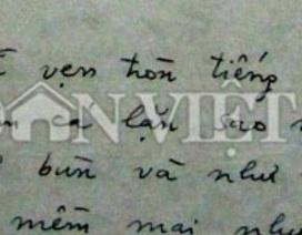 """Tiết lộ bản thảo bài thơ """"Tiếng Việt"""" của Lưu Quang Vũ"""
