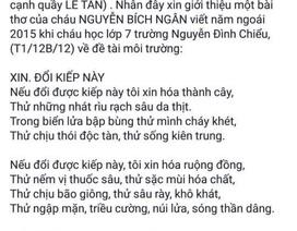 """Cư dân mạng """"choáng"""" với bài thơ của học sinh lớp 8"""