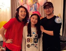 Chương Tử Di tổ chức sinh nhật cho con gái riêng của chồng