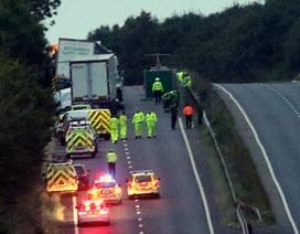 Tai nạn liên hoàn ở Anh, 4 người thiệt mạng