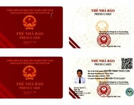 Ban hành mẫu thẻ nhà báo mới