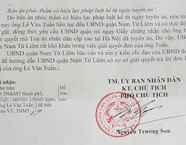 """Phán quyết của TAND Cấp cao bị """"xếp xó"""": UBND quận Nam Từ Liêm xin chỉ đạo!"""