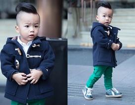 Choáng với thời trang sành điệu của cậu nhóc 2 tuổi