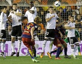 Thắng Valencia 8-1 chung cuộc, Barcelona vào chung kết Cúp Nhà vua