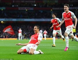 Sanchez lập cú đúp, Arsenal giành lại vị trí thứ 3