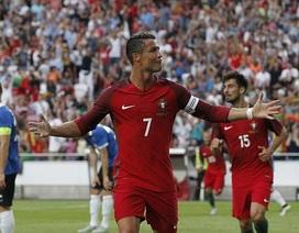 C.Ronaldo lập cú đúp, Bồ Đào Nha thắng Estonia 7-0