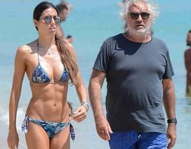 Siêu mẫu Ý hạnh phúc bên ông xã hơn 30 tuổi