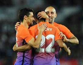 Man City giành trận thắng thứ 7 liên tiếp cùng Guardiola