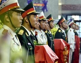 Tiễn biệt 3 phi công hy sinh khi bay huấn luyện trên đỉnh Bao Quan