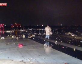 Hàng trăm mảnh vỡ ngổn ngang tại hiện trường vụ rơi máy bay ở Nga