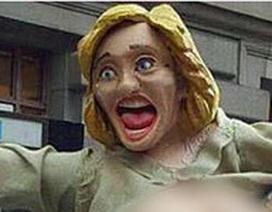 Tượng bà Clinton khỏa thân xuất hiện tại New York