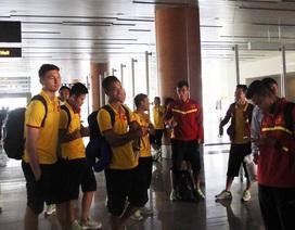 Đội tuyển Việt Nam đổ bộ xuống Nay Pyi Taw, sẵn sàng đấu Campuchia