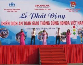 """Phát động """"Chiến dịch ATGT cùng Honda Việt Nam"""" tại Vĩnh Phúc"""