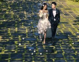 Ảnh cưới ngọt ngào và lãng mạn của Lâm Tâm Như - Hoắc Kiến Hoa