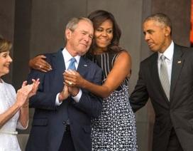 Vợ chồng Obama, Bush hội ngộ tại lễ khai trương bảo tàng về người da màu