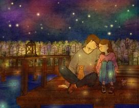 Những bức tranh ngọt ngào về tình yêu khiến nhiều người rung động
