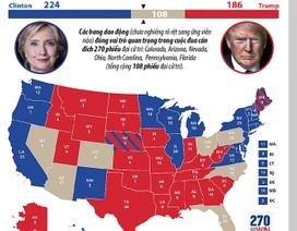 Cục diện bầu cử tổng thống Mỹ qua các bang tranh chấp