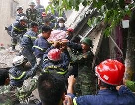 Sập nhà 4 tầng tại Hà Nội, 2 người tử vong