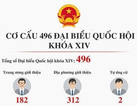 """""""Tổng quan"""" 496 đại biểu Quốc hội khóa mới"""