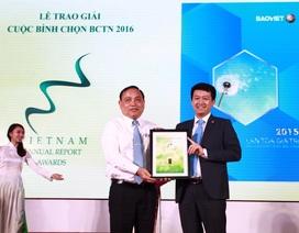 Bảo Việt đạt giải đặc biệt Báo cáo thường niên 2016