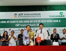 """Vietcombank đồng hành cùng """"Giải bóng đá U19 Vô địch Đông Nam Á - Cúp Vietcombank 2016"""""""