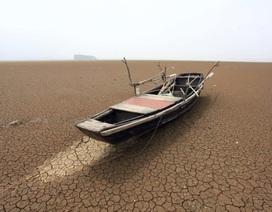 """Hồ nước ngọt khổng lồ gần như """"biến mất"""" sau đợt hạn hán kỷ lục"""