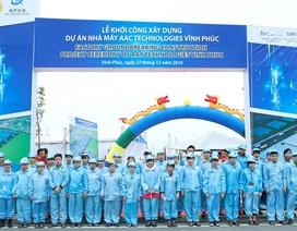 Xây dựng Nhà máy cung cấp linh kiện điện tử tiêu chuẩn thế giới tại Vĩnh Phúc
